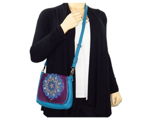 Little Mandala Messenger Cross Body Bag model view