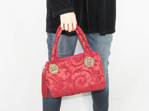 Little Red Velvet Christmas Handbag