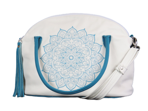 Mandala_Bowler_Bag_Satchel_Turquoise_Ivory_Genuine_Leather_white_side