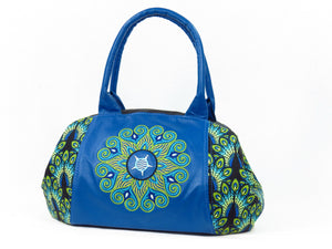Mandala Leather and Peacock Print Doctor Bag