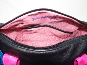 Millie's Pink and Black Satchel dual pockets