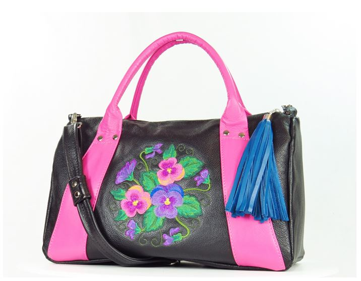 Millie's Pink and Black Satchel