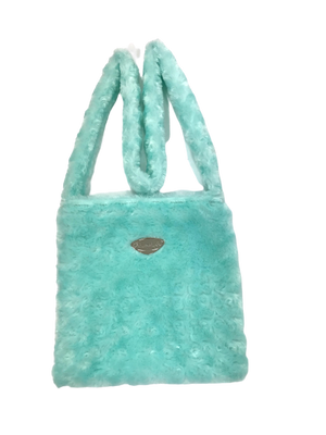Mint Roses Fur Bag