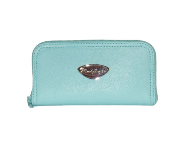 Mint Green Leather Wallet