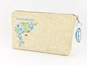 Morning Glories Embroidered Cosmetic Accessories Zipper Pouch