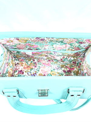 Natalie Mint Green Leather Satchel interior view