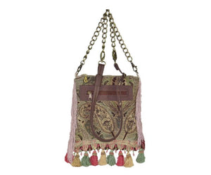 Pink Fringe Victorian Cottagecore Bag
