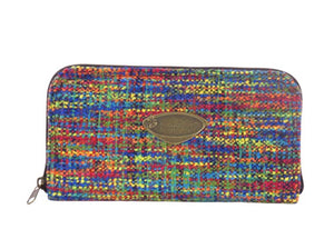 Rainbow Tweed Wallet