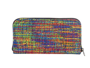 Rainbow Tweed Wallet back view