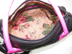 Roses For Millie Satchel pink and yellow roses