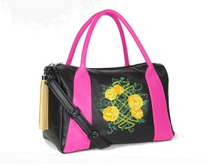 Roses For Millie Satchel yellow roses
