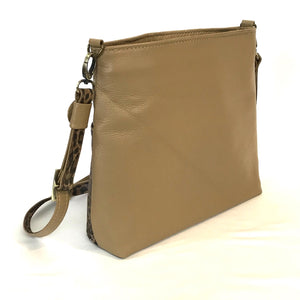 Savanna Crossbody Camel Tan back view