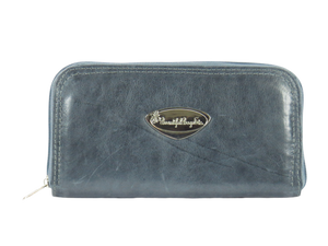 Slate Gray Leather Wallet