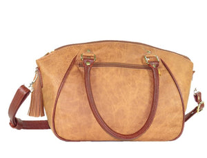 Southwest Leather Satchel back view