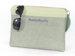 Spring Crocus Zipper Pouch reverse side
