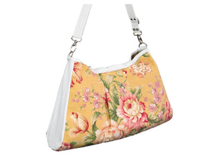 Spring Floral Yellow Hobo Handbag back view