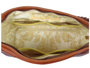 Summer's End Sunflower Slouchy Hobo Bag interior view