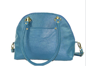 Teal Green Leather Dome Bag back view