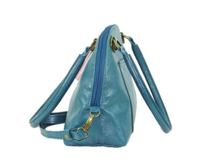 Teal Green Leather Dome Bag side view