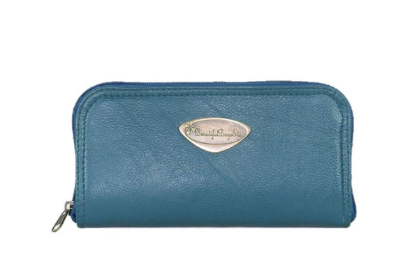 Teal Green Leather Wallet