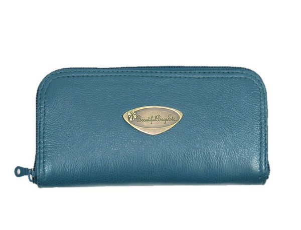 Teal Leather Wallet