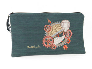 Travel Accessories Pouch Steampunk Embroidery