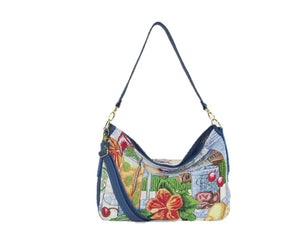 Tropical Vacation Slouchy Hobo handle view