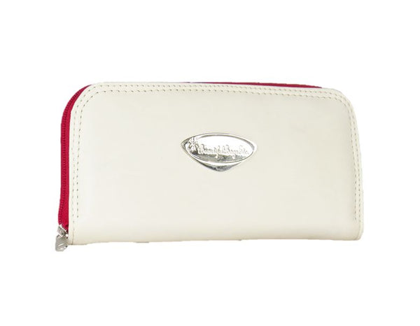 Valentine Hearts Red and White Leather Wallet