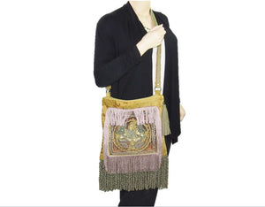 Vishnu Kalaga Embroidered Ren Faire Gypsy Bag model
