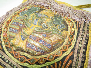 Vishnu Kalaga Embroidered Ren Faire Gypsy Bag profile