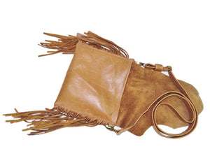 Western Fringe Cross Body Hip Bag flat view