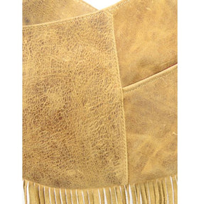 Western Fringe Leather Crossbody close-up view