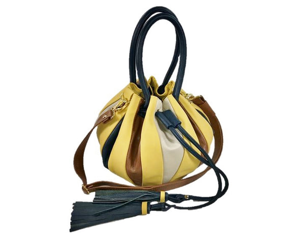 Yellow Pumpkin Bucket Bag 1
