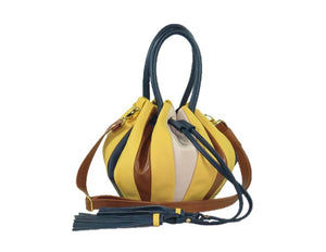Yellow Pumpkin Bucket Bag