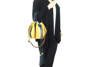 Yellow Pumpkin Bucket Bag model 1