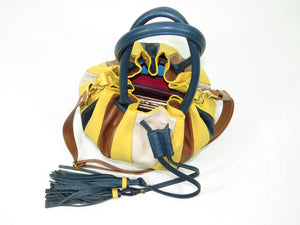 Yellow Pumpkin Bucket Bag top view