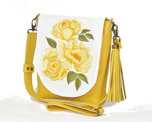 Yellow Roses Bouquet Cross Body Bag 1