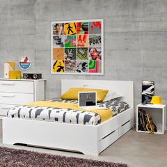 Gami Jeko White Small Double Bed