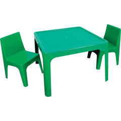 Green Table and Four Chair Set