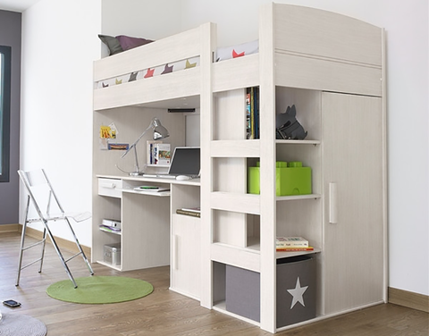 Children's storage beds