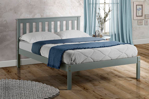 Birlea Denver Low Foot End Bed Grey- Single, Small Double, Double or King Size