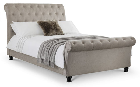 Ravello Deep Button Scroll Bed- Double or King Size