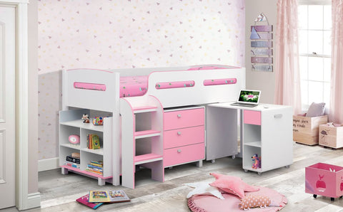 Julian Bowen Kimbo Single Cabin Bed - Pink