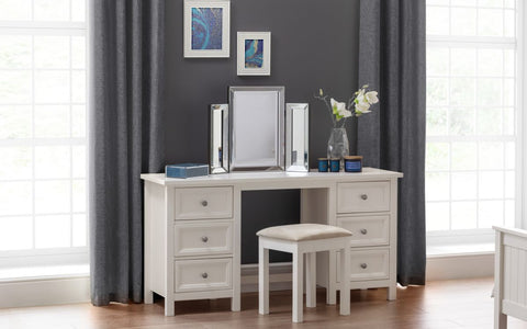 Julian Bowen Main Surf White Dressing Table