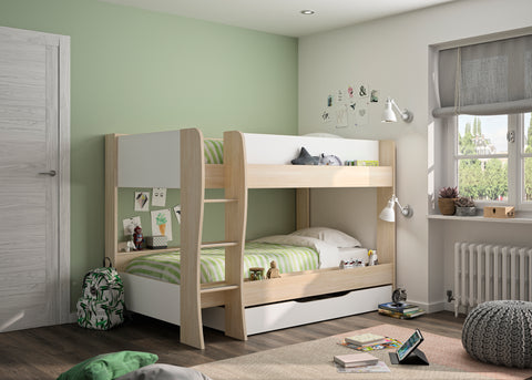 Gami Roomy Bunk Bed With Under Bed Drawer