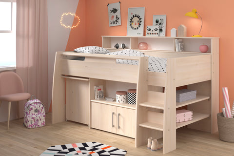 Parisot Kurt Acacia Mid Sleeper Cabin Bed