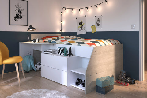 Parisot Milky Mid Sleeper Cabin Bed