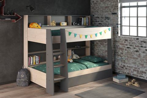 Parisot Tam Tam 5 Bunk Oak and Grey