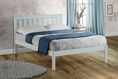 Birlea Denver Low Foot End Bed White- Single, Small Double, Double or King Size