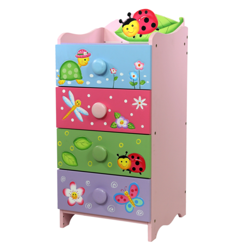 Magic Garden 4 Drawer Chest 4 Handles - Childrens Funky Furniture - 1